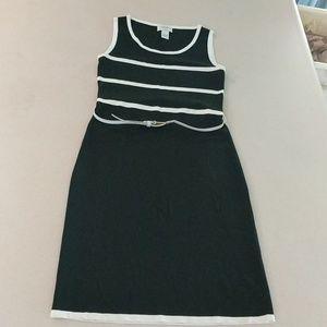 Carmen Marc Valvo Black and White dress